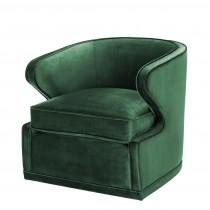 Dorset Roche Green Velvet Chair
