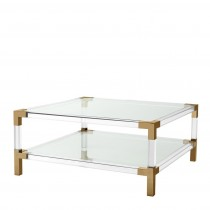 Eichholtz Royalton Acrylic & Brass Coffee Table