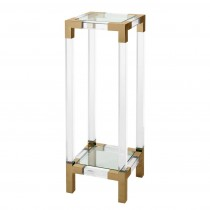 Royalton Acrylic & Brass Column