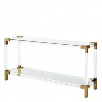 Eichholtz Royalton Acrylic & Brass Console Table