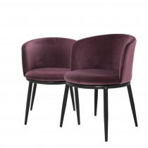 Eichholtz Filmore Cameron Royal Purple Dining Chair Set of 2