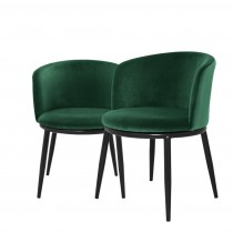 Eichholtz Filmore Cameron Green Dining Chair Set of 2