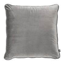 Roche Porpoise Grey Velvet Pillow - 60 x 60cm