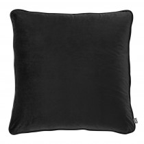 Roche Black Velvet Pillow - 60 x 60cm