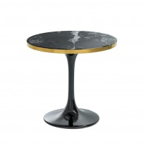 Eichholtz Parme Round Black Side Table