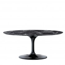 Eichholtz Solo Oval Black Dining Table