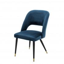 Eichholtz Cipria Roche Blue Velvet Dining Chair