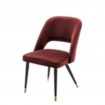 Eichholtz Cipria Roche Bordeaux Velvet Dining Chair