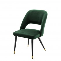 Cipria Roche Green Velvet Dining Chair