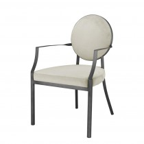 Eichholtz Scribe Gunmetal & Pebble Grey Dining Armchair