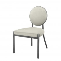 Eichholtz Scribe Gunmetal & Pebble Grey Dining Chair