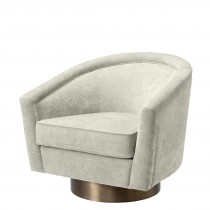 Catene Clarck Sand Swivel Chair