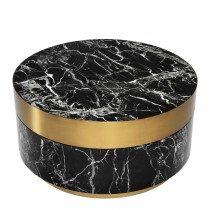 Caron Black Faux Marble Coffee Table