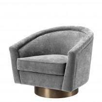 Catene Clarck Grey Swivel Chair