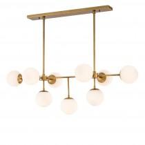 Lux Antique Brass Chandelier
