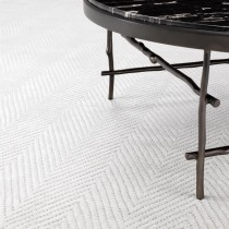 Herringbone Ivory Carpet - 3m x 4m