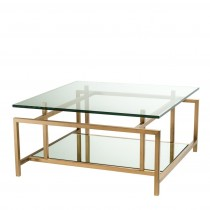 Superia Brushed Brass Coffee Table