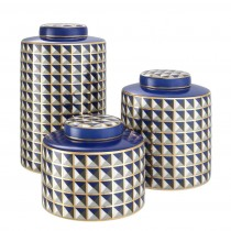 Drappo Set of 3 Porcelain Jars