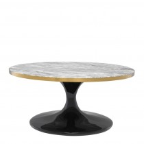 Parme Round Grey Faux Marble Coffee Table