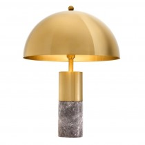 Flair Grey Marble & Brass Table Lamp