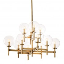 Jade Large Antique Brass Chandelier