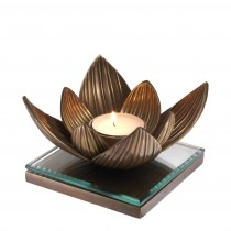 Lotus Brass Tealight Holder