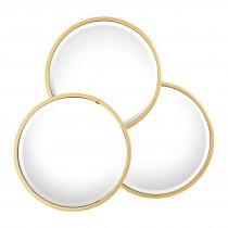 Sensation Round Gold Mirror