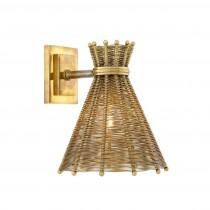 Kon Tiki Brass Wall Lamp