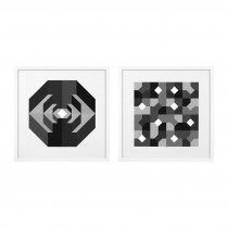 Abstract Black and White Set of 2 Prints