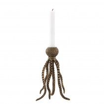 Octopus Brass Candle Holder
