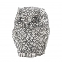 Owl Antique Silver Box