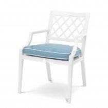 Paladium White Outdoor Dining Armchair