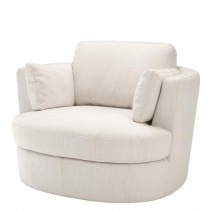 Clarissa Avalon White Swivel Chair