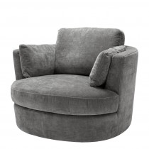 Clarissa Clarck Grey Swivel Chair