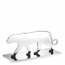 Panther Silhouette Nickel Statue
