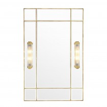 Beaumont Brass Mirror with Light