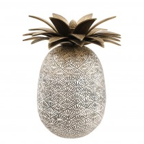 Pineapple Antique Silver & Brass Box