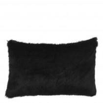 Alaska Black Faux Fur Cushion