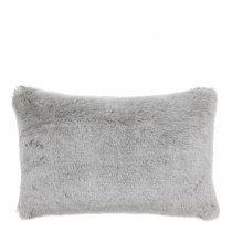 Alaska Light Grey Faux Fur Cushion