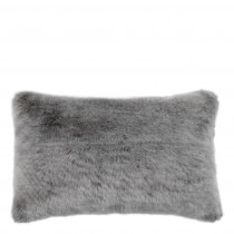 Alaska Grey Faux Fur Cushion