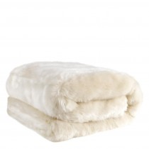 Alaska White Faux Fur Throw