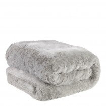 Alaska Light Grey Faux Fur Throw