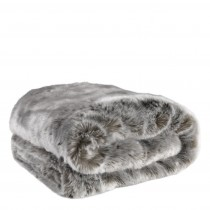Alaska Grey Faux Fur Throw