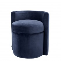 Arcadia Savona Midnight Blue Velvet Stool