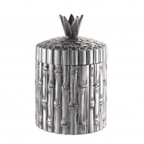 Bamboo Antique Silver Plated Box