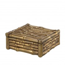 Bamboo Square Vintage Brass Box