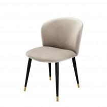 Volante Roche Beige Velvet Dining Chair
