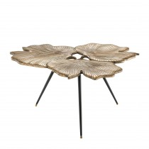 Ginkgo Brass Side Table