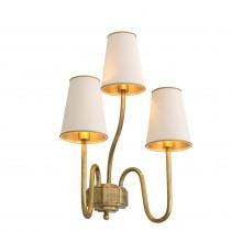 Bergerac Small Vintage Brass Wall Lamp