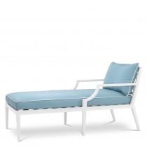 Bella Vista White Outdoor Chaise Lounge